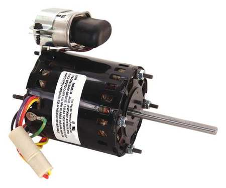 HVAC Motor, 115/208 to 230V, 3-1/8 In. L