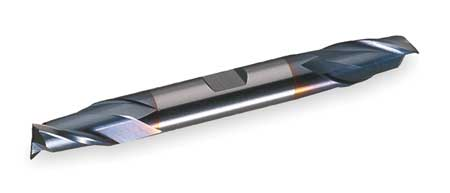 End Mill, Co, TiCN, 1/2, 2 FL, dbl Sq End, CC