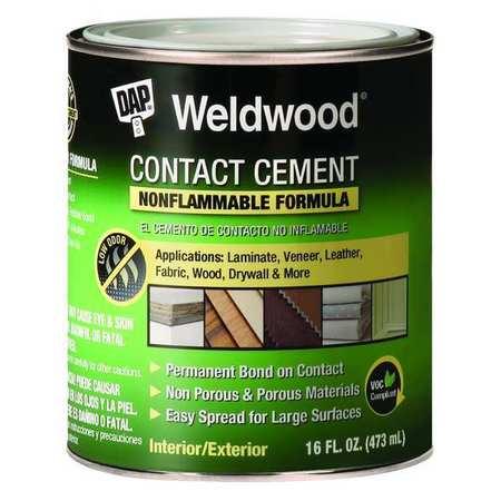 Contact Cement, 1 Quart, Non Flammable