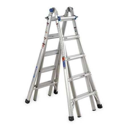 Multipurpose Ladder, 22 ft., Aluminum