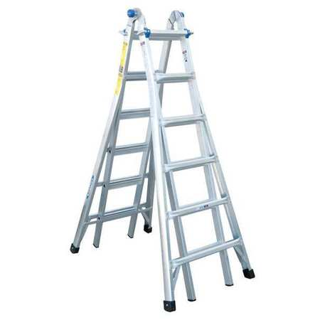 Multipurpose Ladder, 26 ft., IA, Aluminum