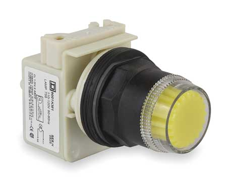 Illum Push Button Operator, 30mm, Yellow