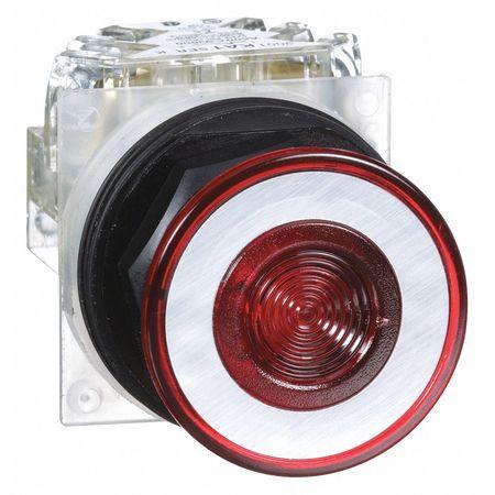 Non-Illuminated Push Button, Plastic, Red
