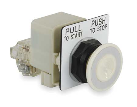 Illuminated Push Button, 1NO/1NC, 120VAC