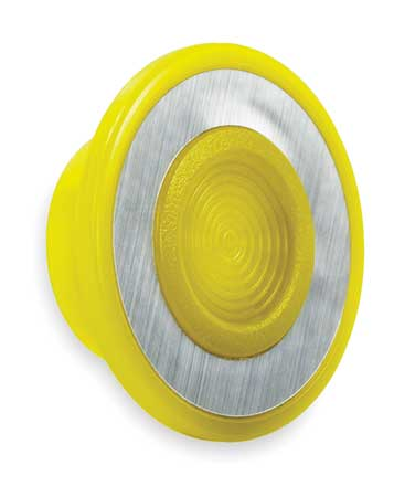 Push Button Cap, Illuminated, 30mm, Yellow