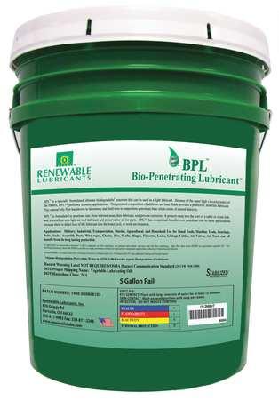 Penetrating Lube, Biodegradable, 5 Gal