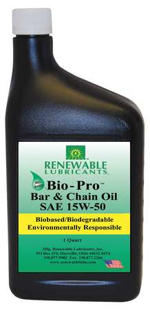 Bar/Chain Lube, Bio-Pro(TM), 1 Qt