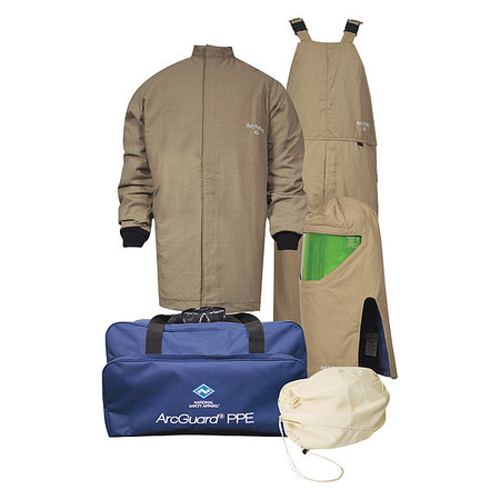FR Coat/Overall Kit, Khaki, XL, HRC4
