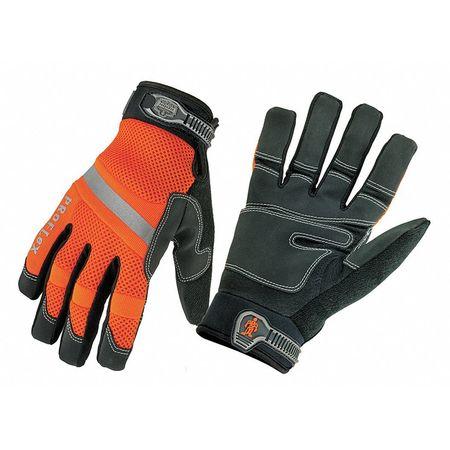 Mechanics Gloves, Orange, M, PR