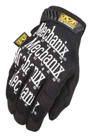 Mechanics Gloves, 2XL, Black, PR