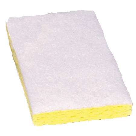 """Scrubber Sponge, White, 6""""L, 3-1/2""""W, PK20"""