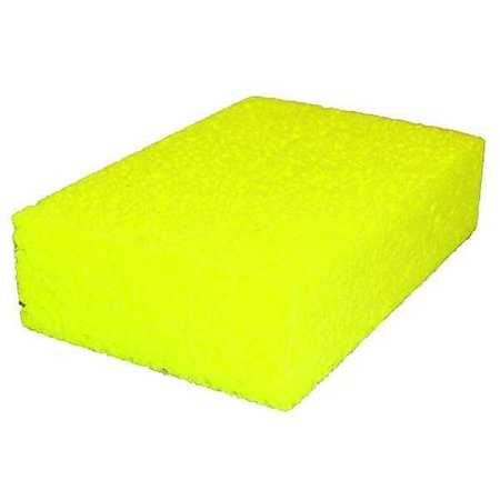 "Sponge, 4-3/16""L, 6""W, Cellulose, Yw"