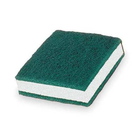 """Soap Pad, 3-1/2""""L, 3-1/2""""W, Grn/Wh, PK5"""