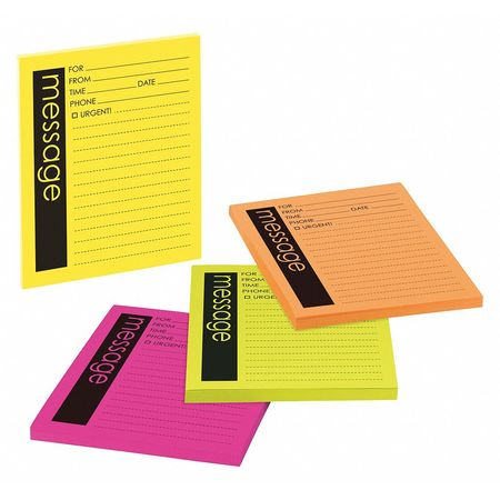 Super Sticky Notes, 4x5 In., Assorted, PK4