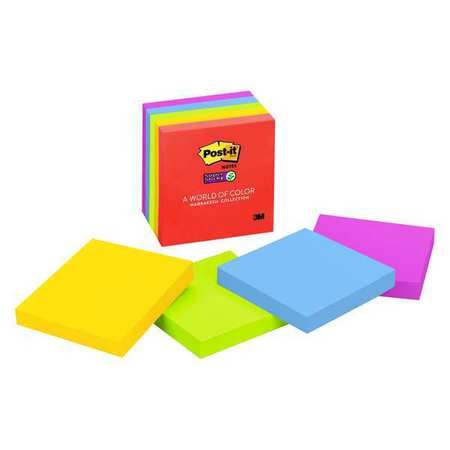 Super Sticky Notes, 3x3 In., Marrakesh, PK5