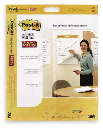 "Self-Stick Wall Pad 23""x20"",  White"