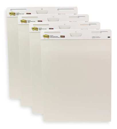 Easel Pad, Plan, 30 In., White, PK4
