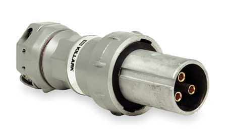 Pin & Slve Plug, 100A, 4P, 3W, 600VAC/250VDC
