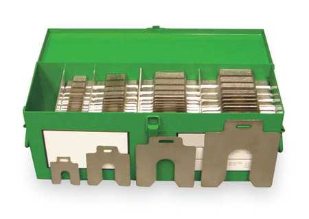 Slotted Shim Assortment Sizes A-D,  Stainless Steel,  PK260