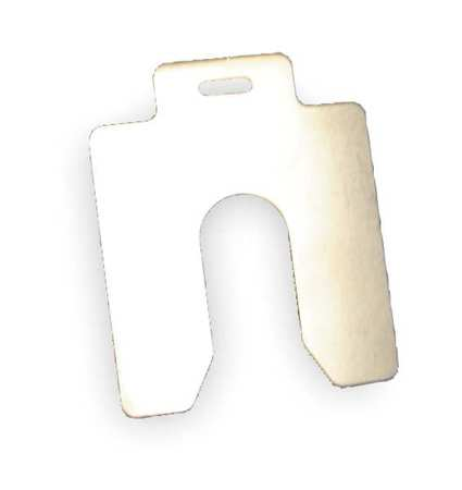 "Slotted Shim A-2 x 2"" x 0.015"",  Pk20"
