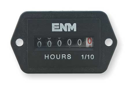 DC Hour Meter, 6-Digit, 2-Hole Rectangular