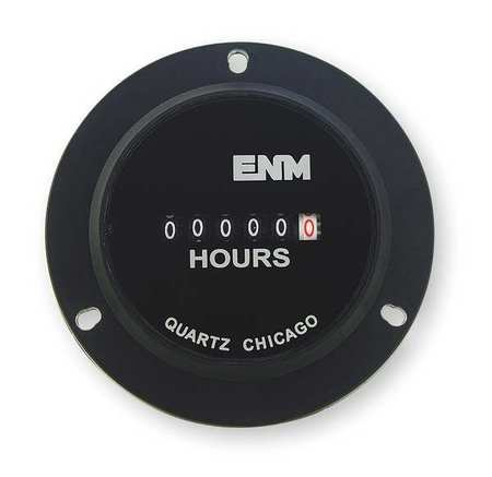 Hour Meter, Electrical, 3-Hole, Flange