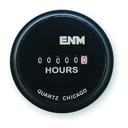 DC Hour Meter, Electrical, 2.31 in, Round