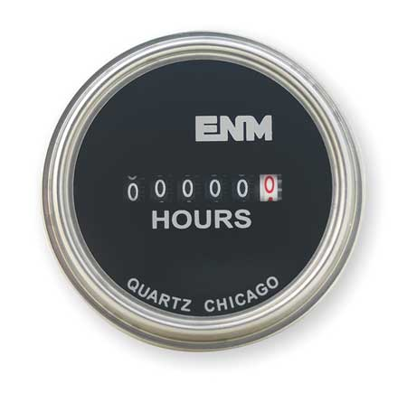 Hour Meter, Electrical, Flush Round, SS