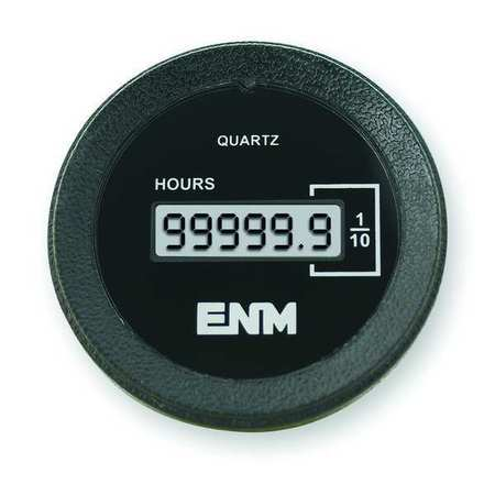 Hour Meter, LCD, Flush Round, 2 in. dia.