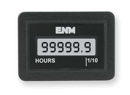 Hour Meter, LCD, Flush Rectangular