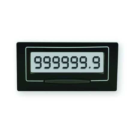 LCD Hour Meter, Self Powered, Rectangular