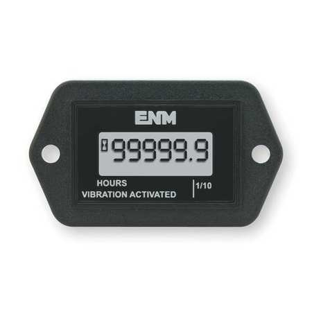 Hour Meter, LCD, Flange, Rectangular