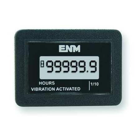 Hour Meter, LCD, Flush Rectangular, Round