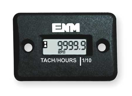 Tachometer/Hour Meter, LCD, Surface Mount