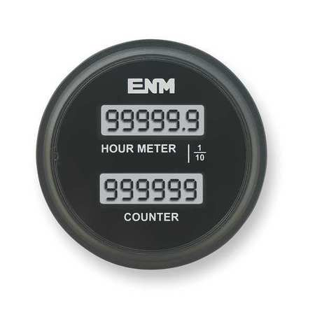 Hour Meter/Counter, LCD, 6Digit, 8-32 VDC