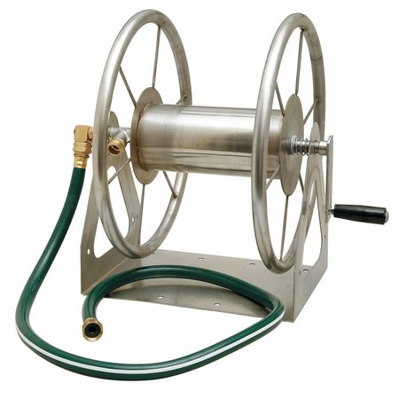 Wall Mount Hose Reel, SS, 15-1/2 In.