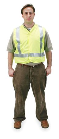 Large Class 2 Flame Resistant High Visibility Vest,  Lime