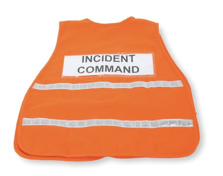 Safety Vest, Incident, Polyester, Orange