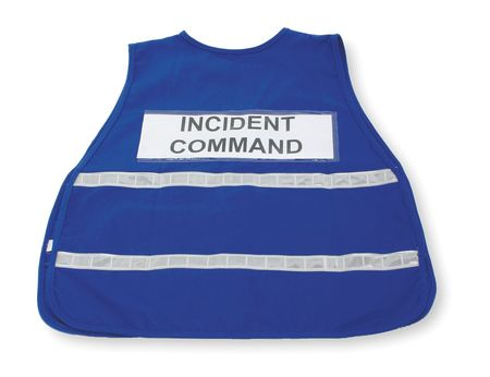 Blue Incident Safety Vest,  Polyester