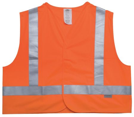 2XL Flame Resistant High Visibility Vest,  Orange