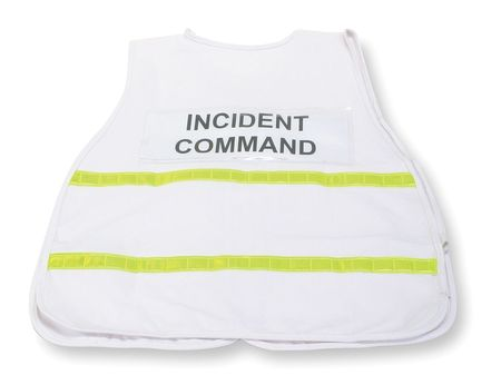 Safety Vest, Incident, Polyester, White