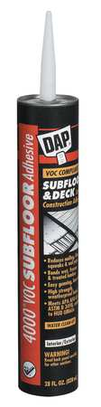 Construction Adhesive, Subfloor and Deck