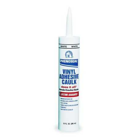 Phenoseal Vinyl Adhesive Caulk, Met Gray