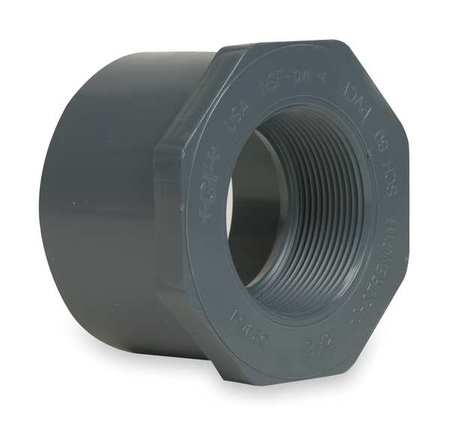 "1-1/4"" Spigot x 1"" FNPT PVC Reducing Bushing"