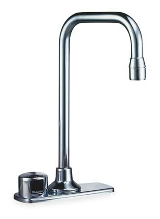 Sensor Bathroom Faucet Gooseneck Spout,  Chrome,  2 Holes