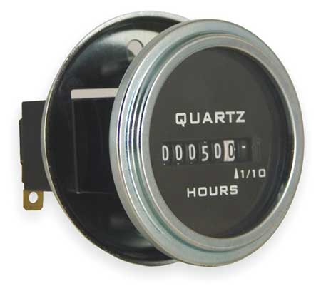 Hour Meter, Electrical, Round, 10-80VDC