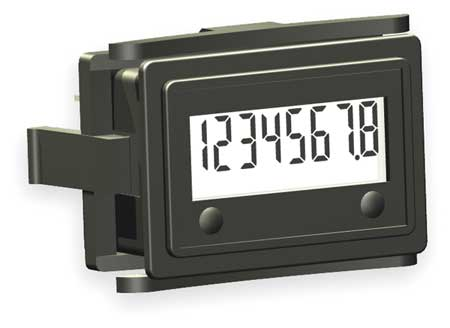 LCD Hour Meter, 1.60 in Flange, Mini Flush