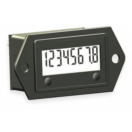 LCD Hour Meter, 2-Hole, 1.10 in Flange