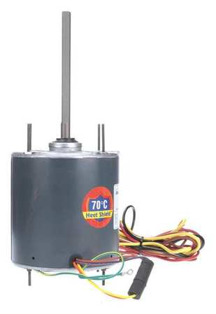 Condenser Fan Motor, 1/5to1/2HP, 1075 rpm