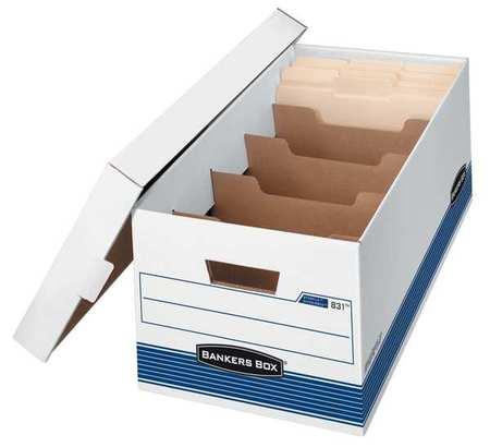 Banker Box, Ltr, 650Lb, Wht/Blu, PK12